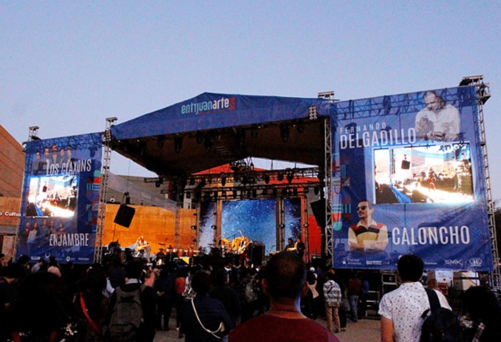 Main stage at the Entijuanarte Festival in Tijuana, Baja California