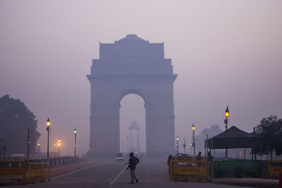 Smog urbano en Delhi