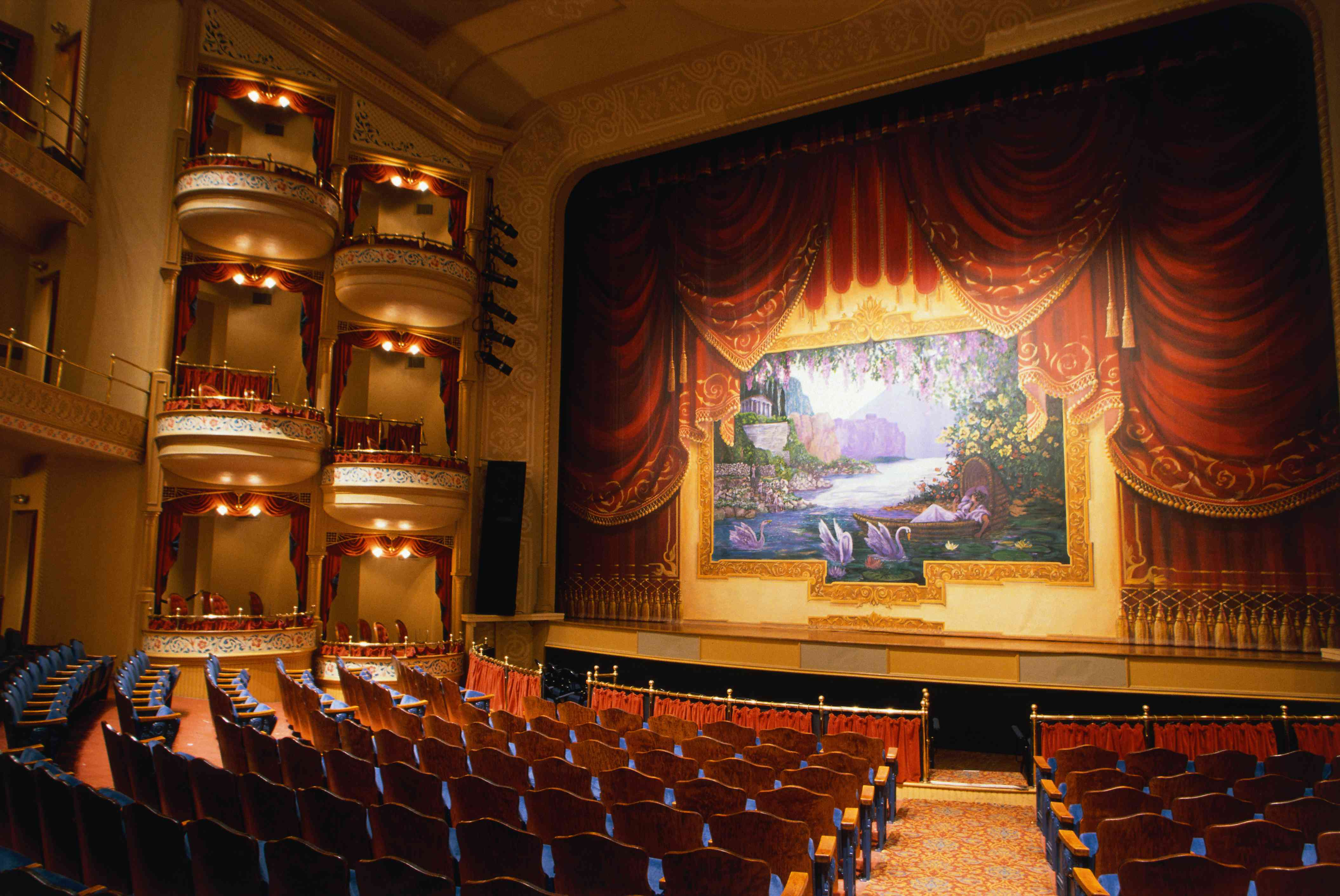 Seating and Stage in the Galveston Historic Grand Opera House