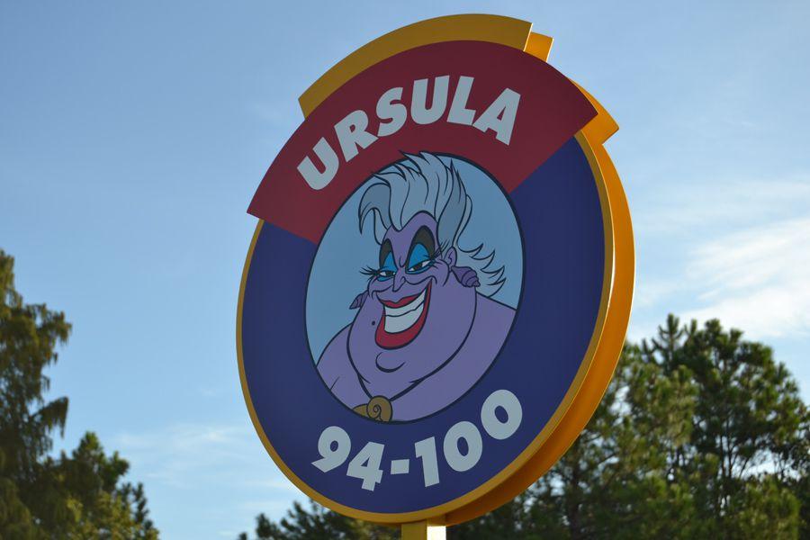 Ursula area parking sign at Disney's Magic Kingdom
