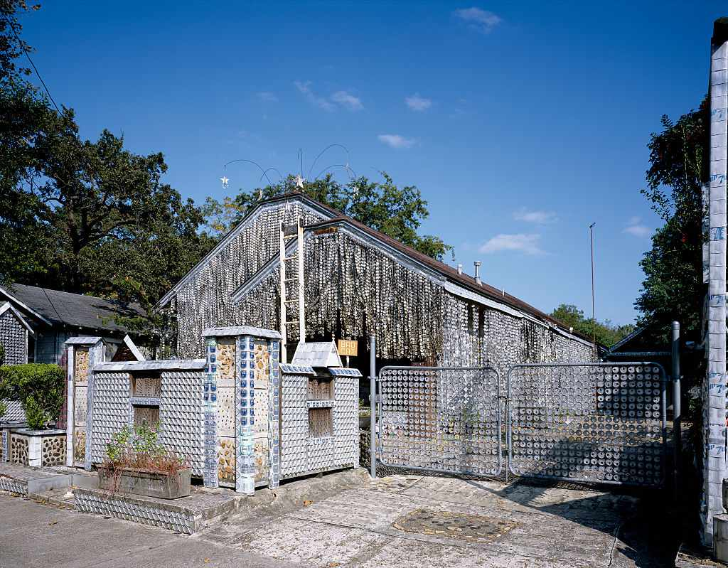 Quirky beer can house, Houston, Texas