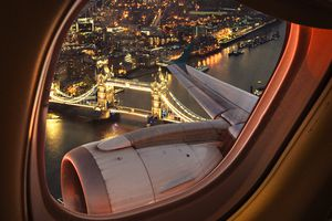 London bridge aerial view from the porthole