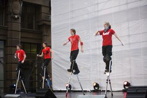 Dance performance at Martin Place during annual Sydney Festival First Night.