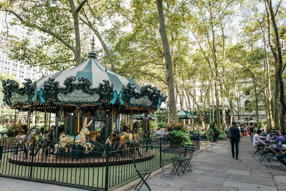 Le Carrousel in Bryant Park in NYC
