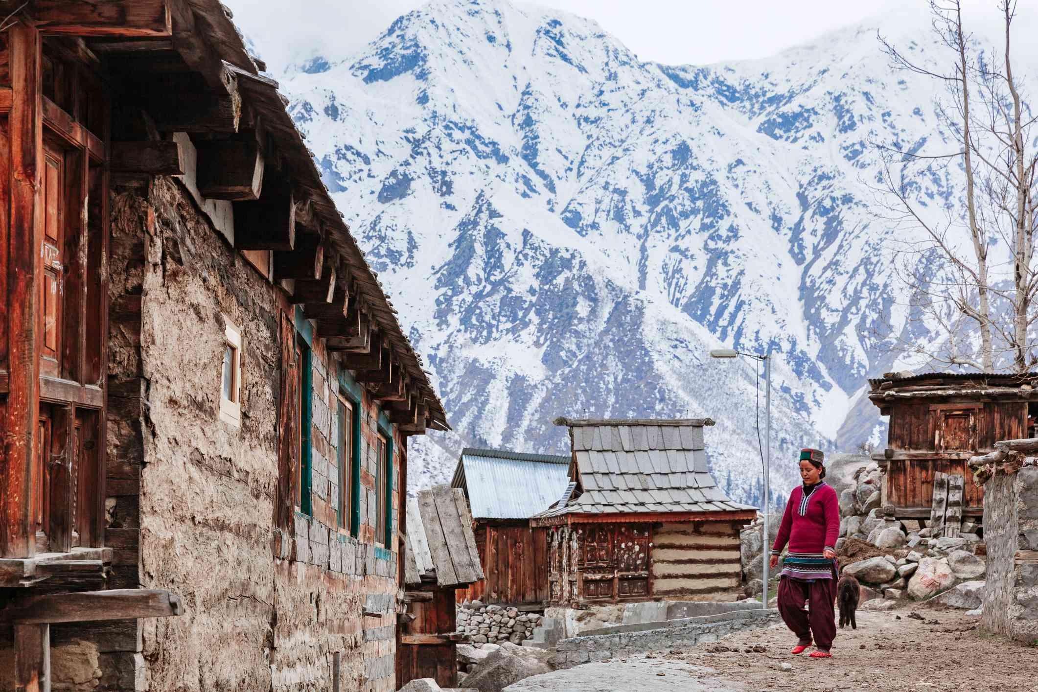 Chitkul village of Kinnaur.