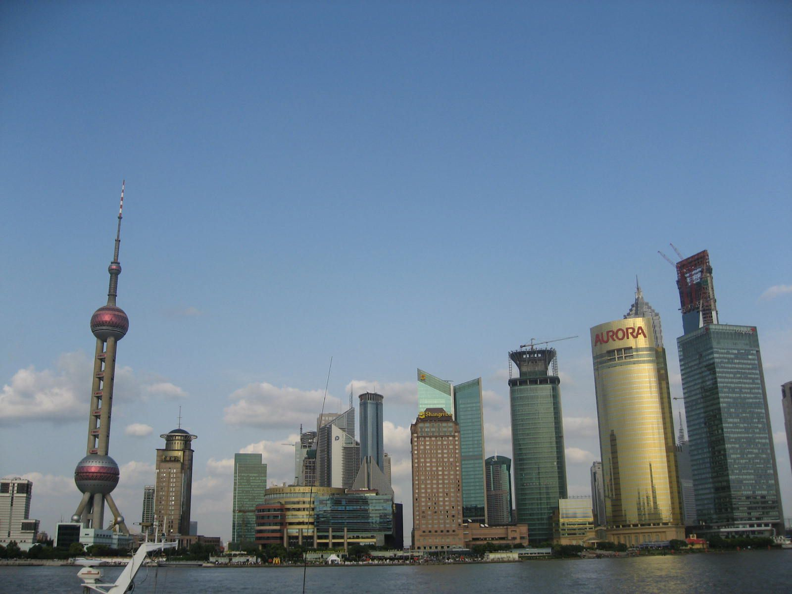 View of Pudong from the river boat.