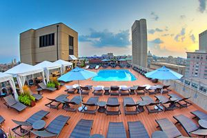 Boston's Colonnade Hotel's Rooftop Pool