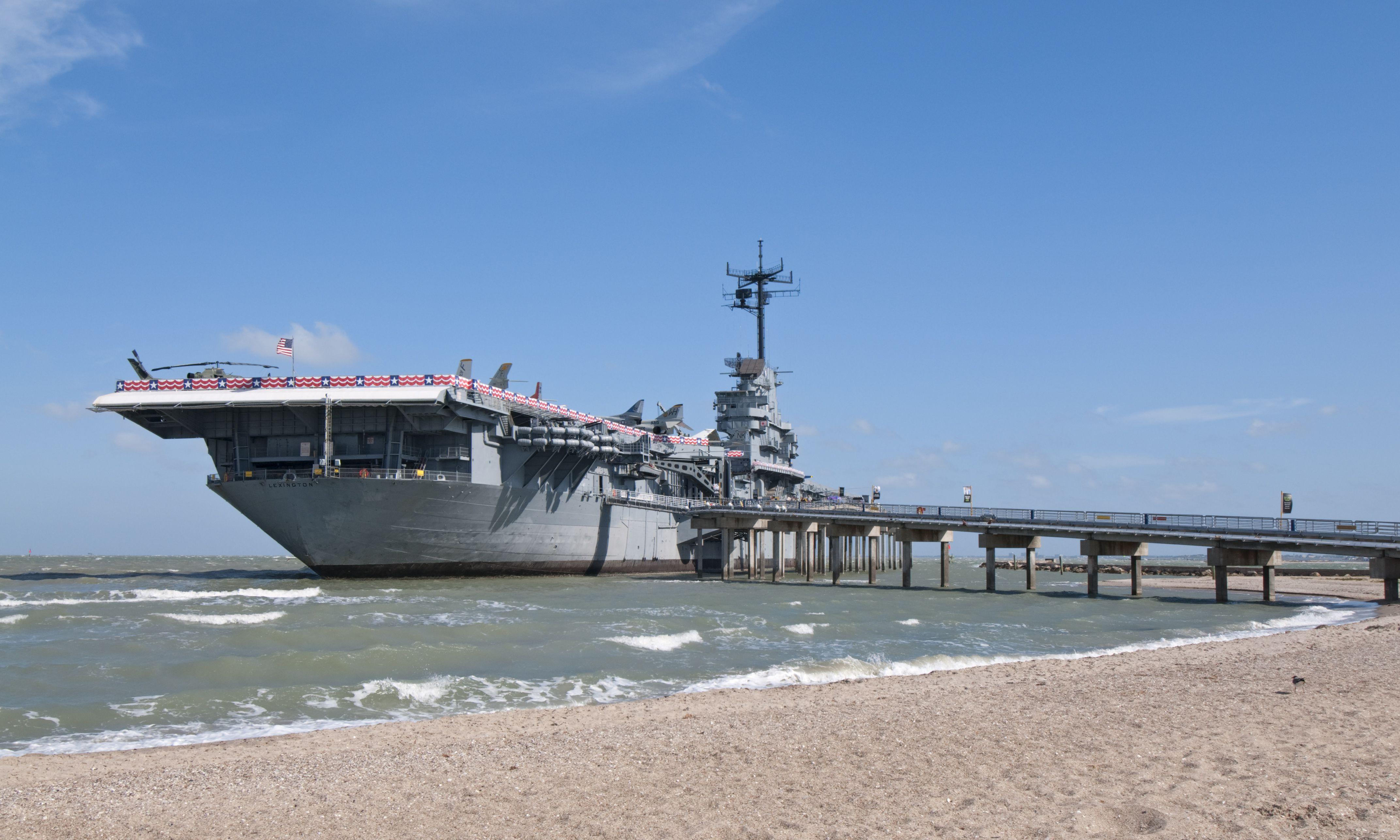 USS Lexington Museum, World War Two era aircraft carrier.