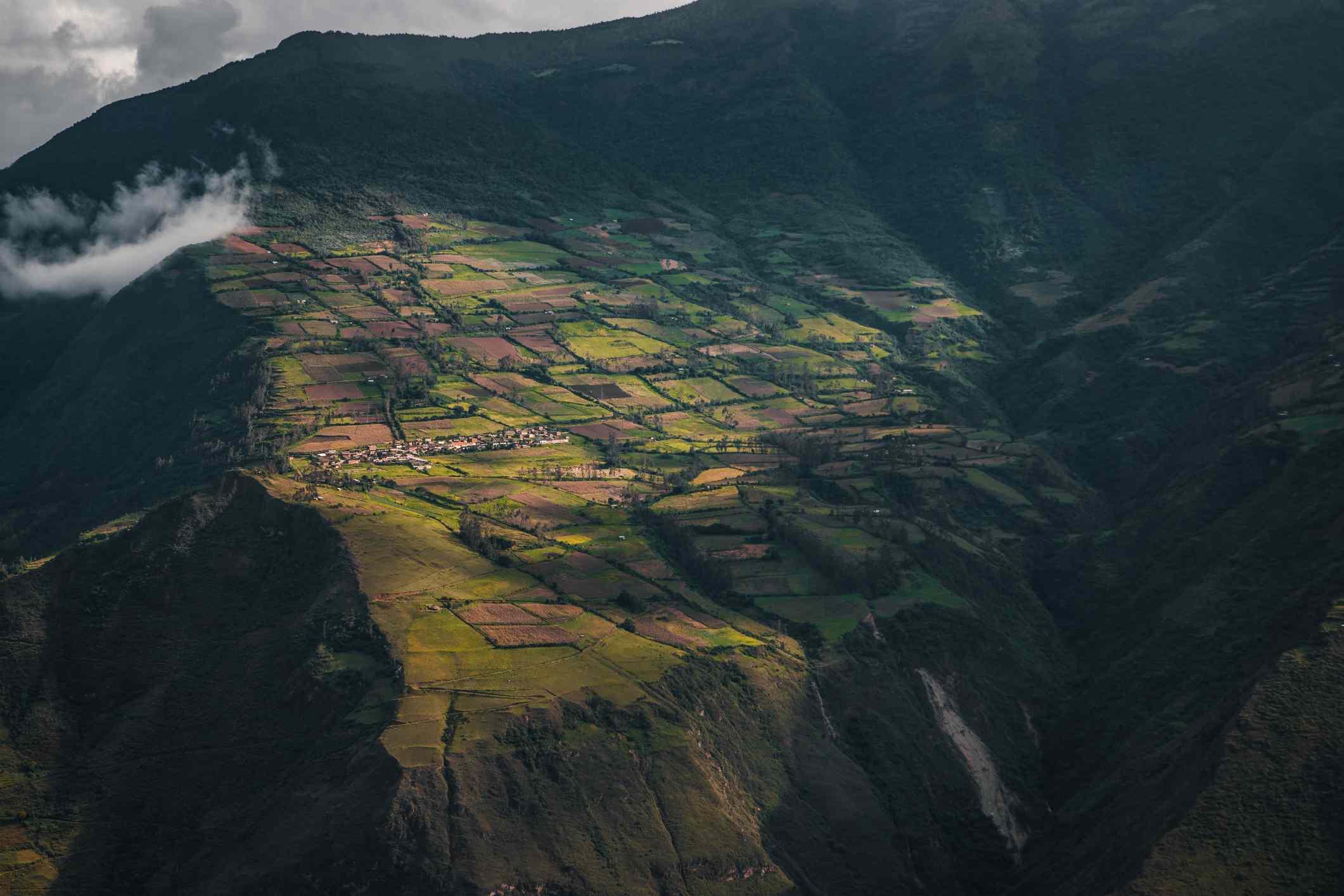 Agricultural field in Choquequirao, Peru