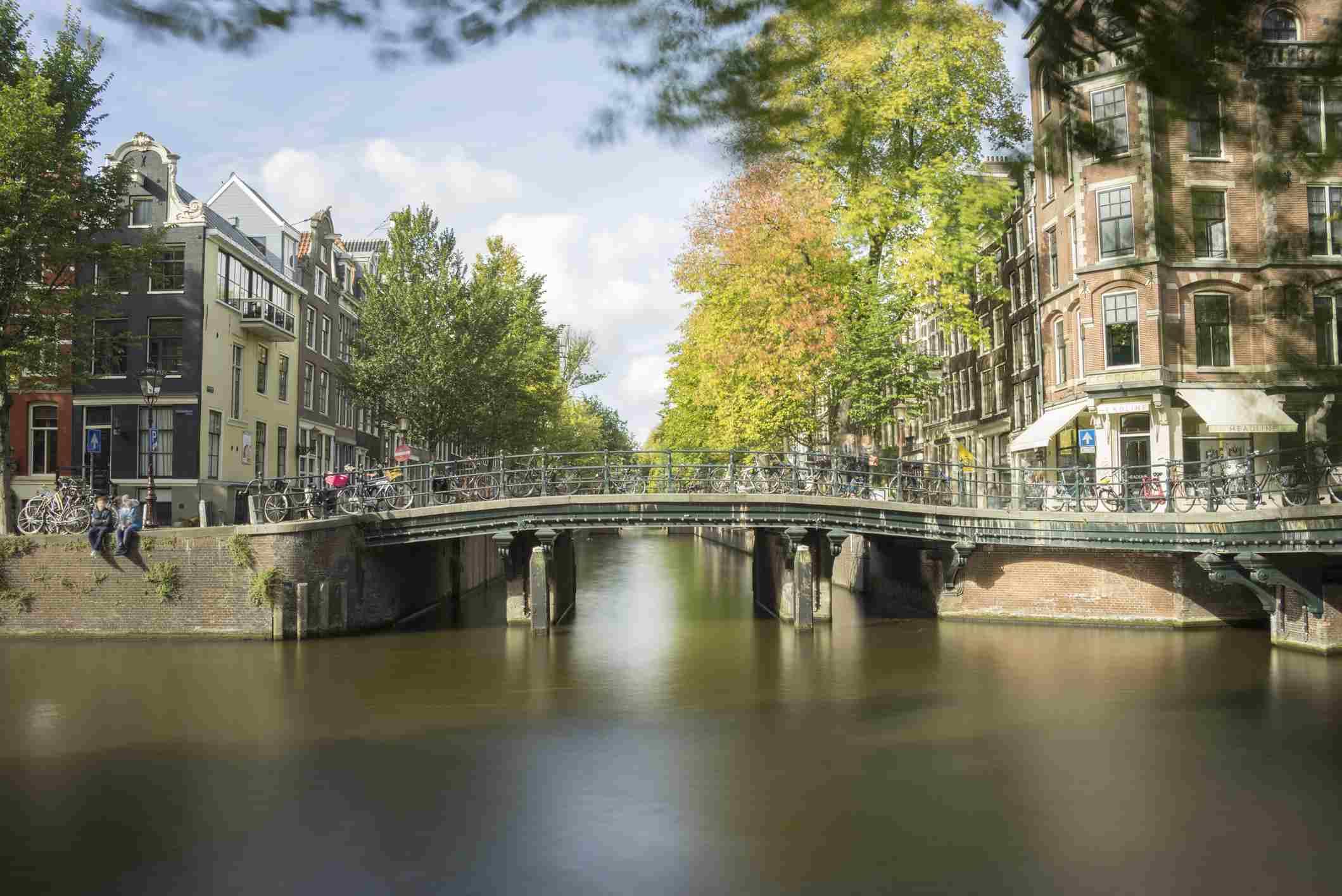 Bridge in Herengracht canal, Amsterdam