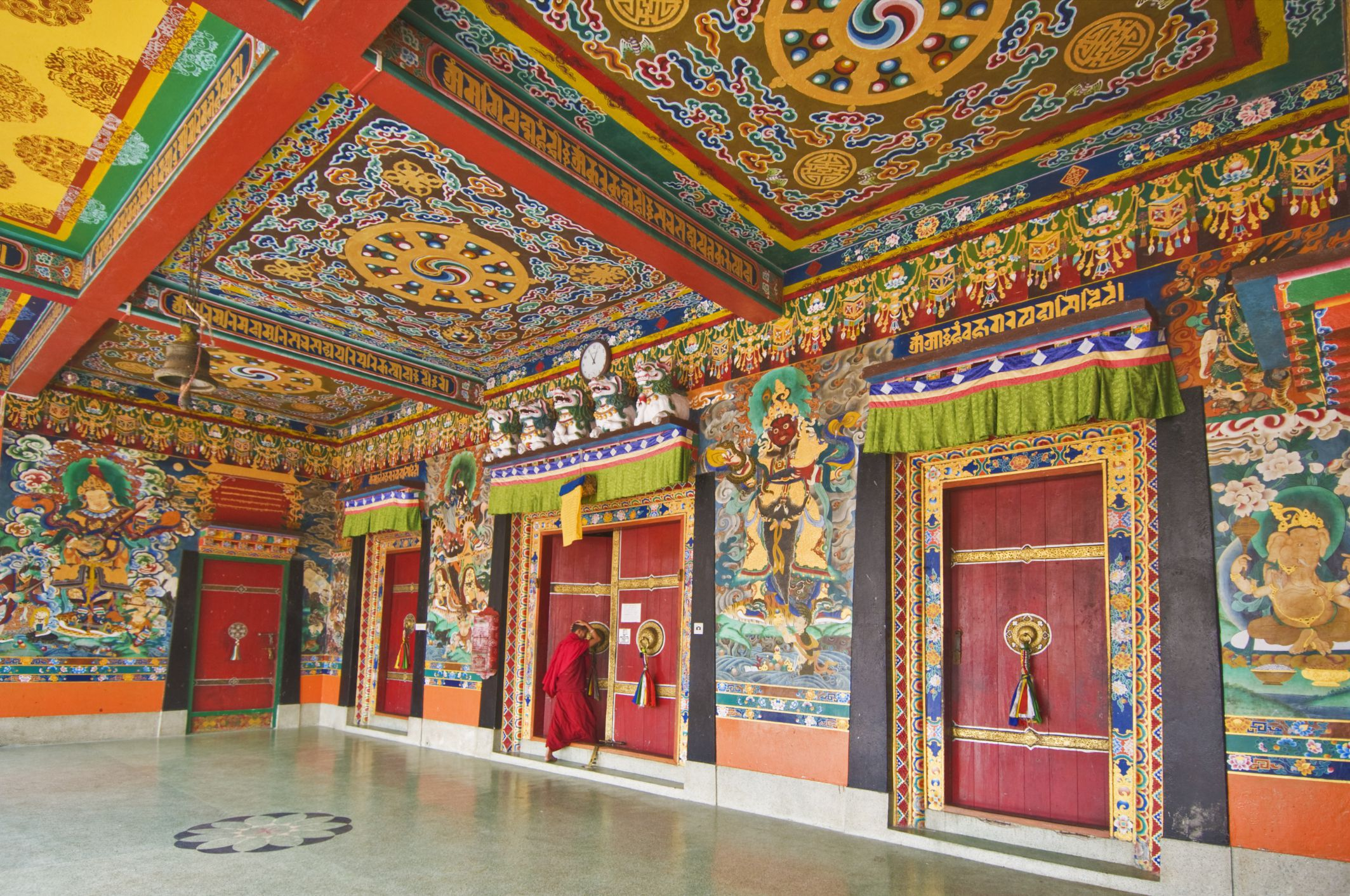 Main temple inside Rumtek Monastery