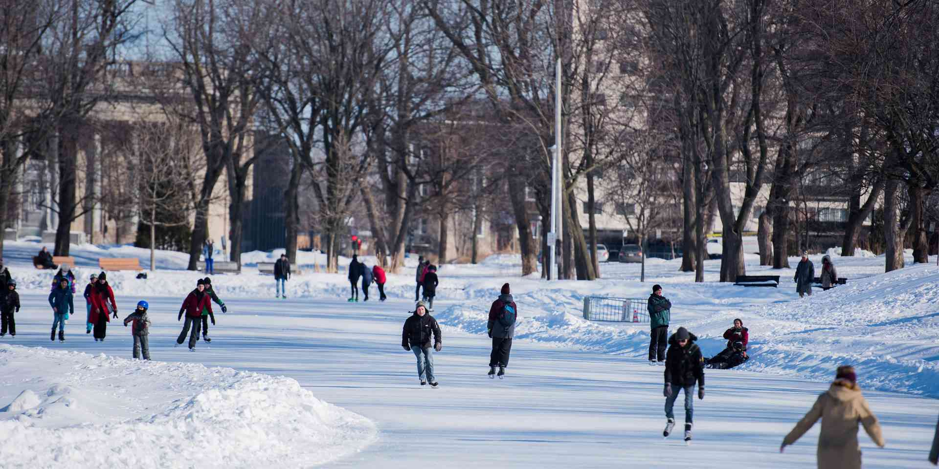 Ice skating at Parc Maisonneuve
