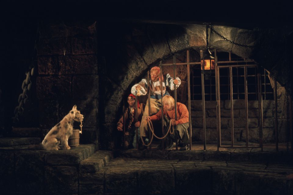 Scene in Disney's Pirates of the Carribean ride at Magic Kingdom.
