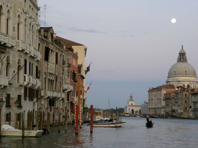 Full moon over Venice, Italy