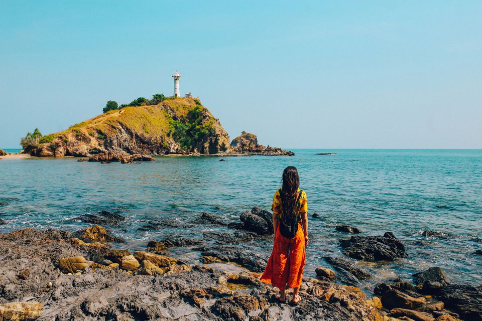 Solo traveler on the island of Koh Lanta, Thailand