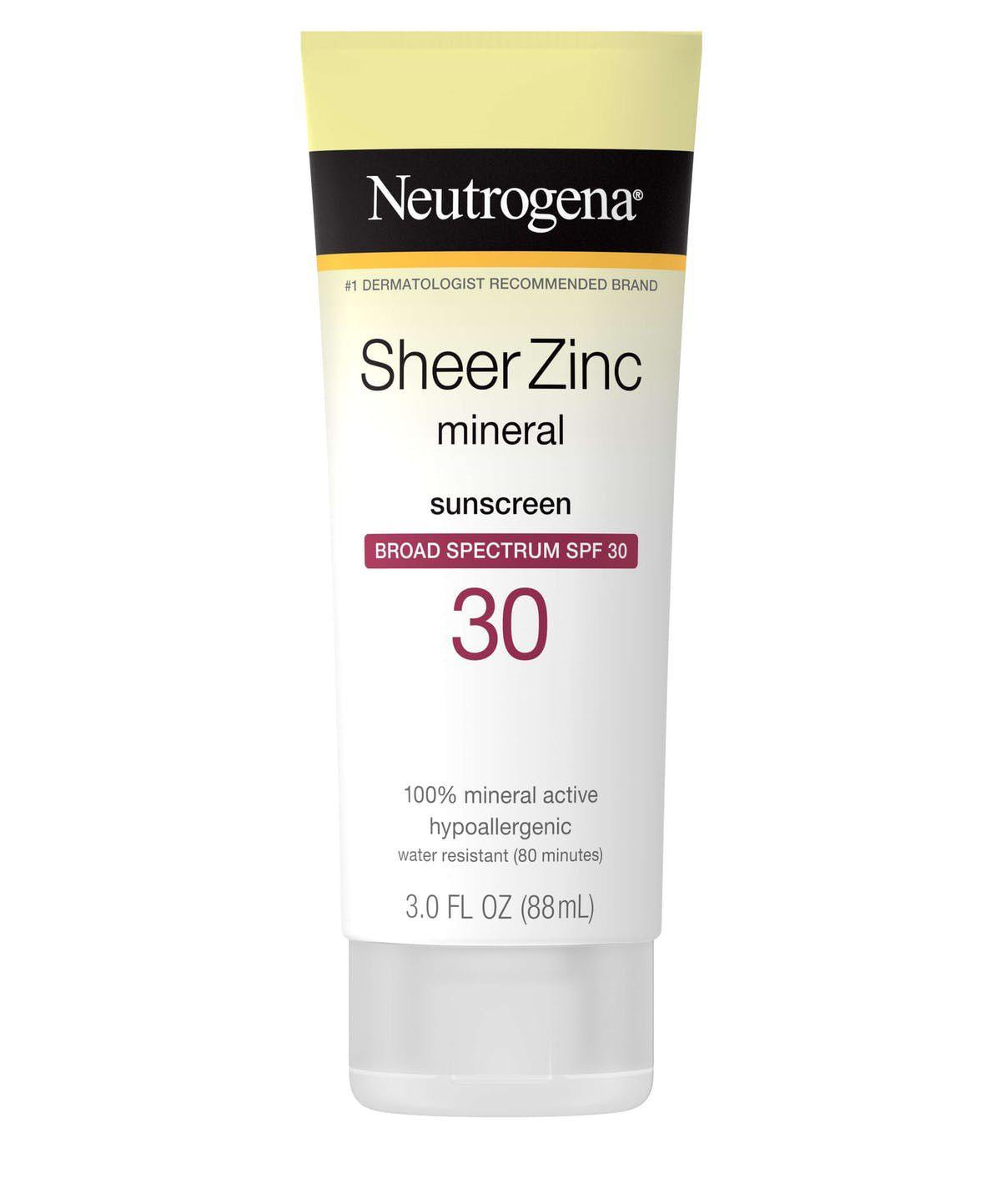 Neutrogena SheerZinc Mineral Sunscreen