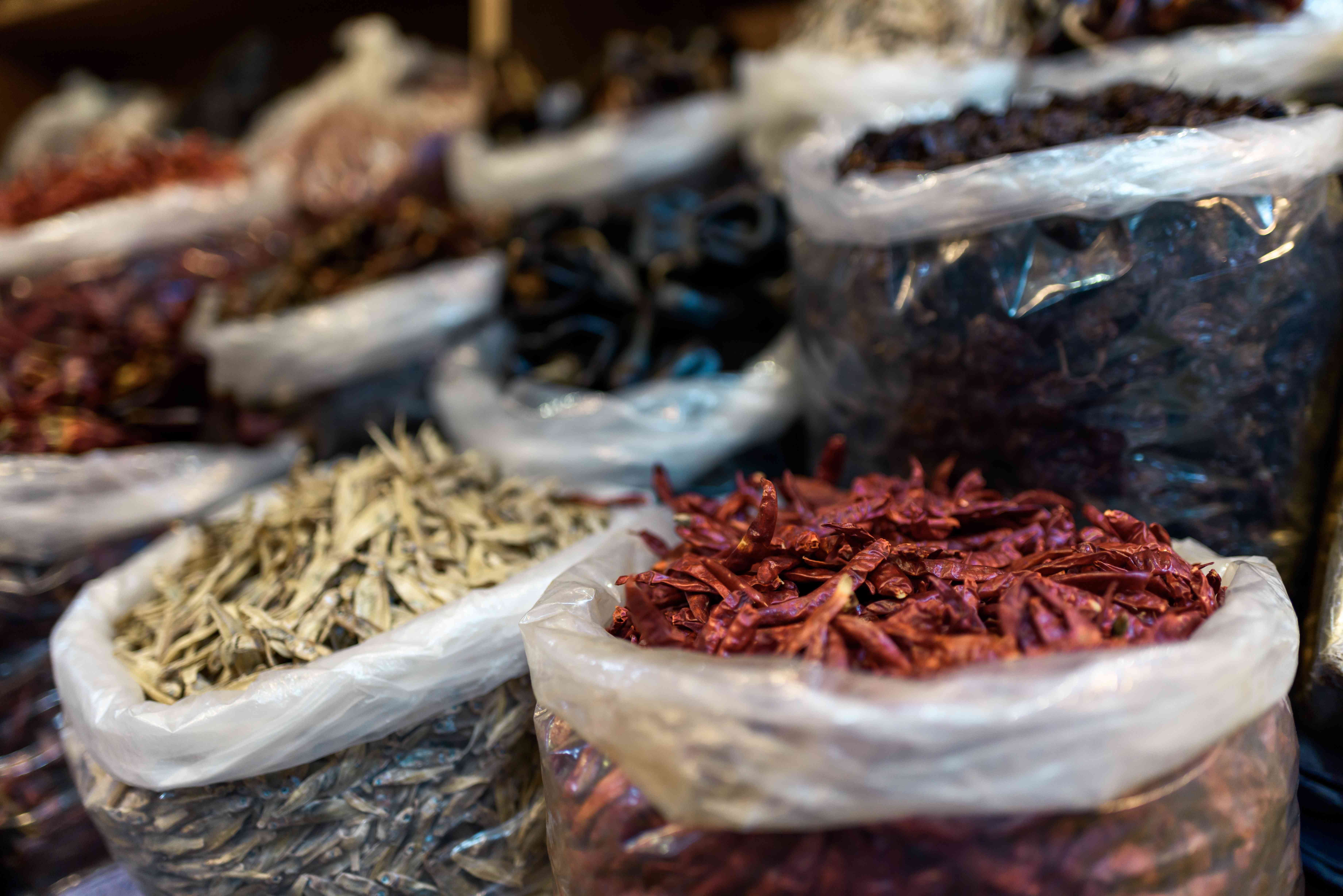 Bags of spices for sale