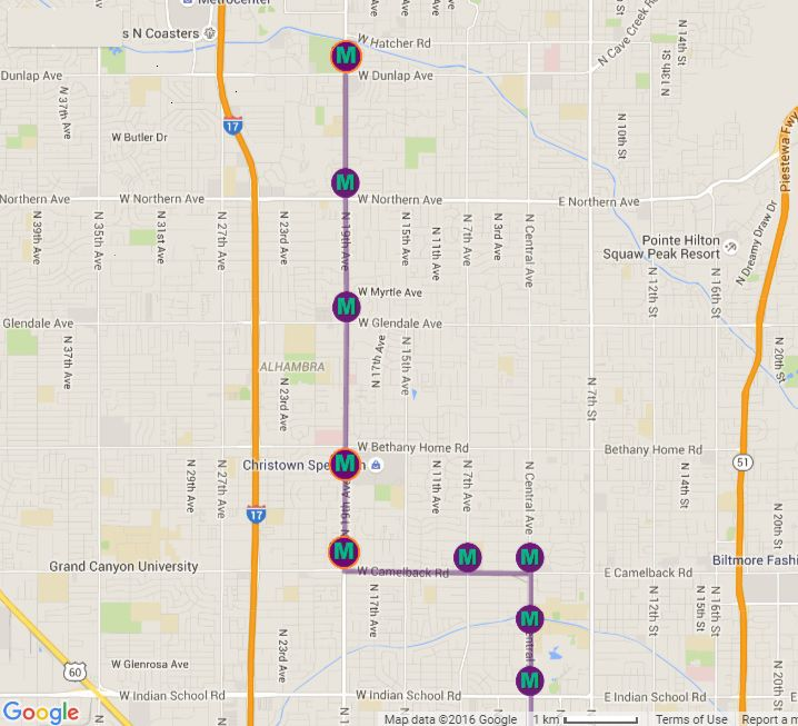 Light Rail Map Phoenix Phoenix Light Rail Station Locations and Map