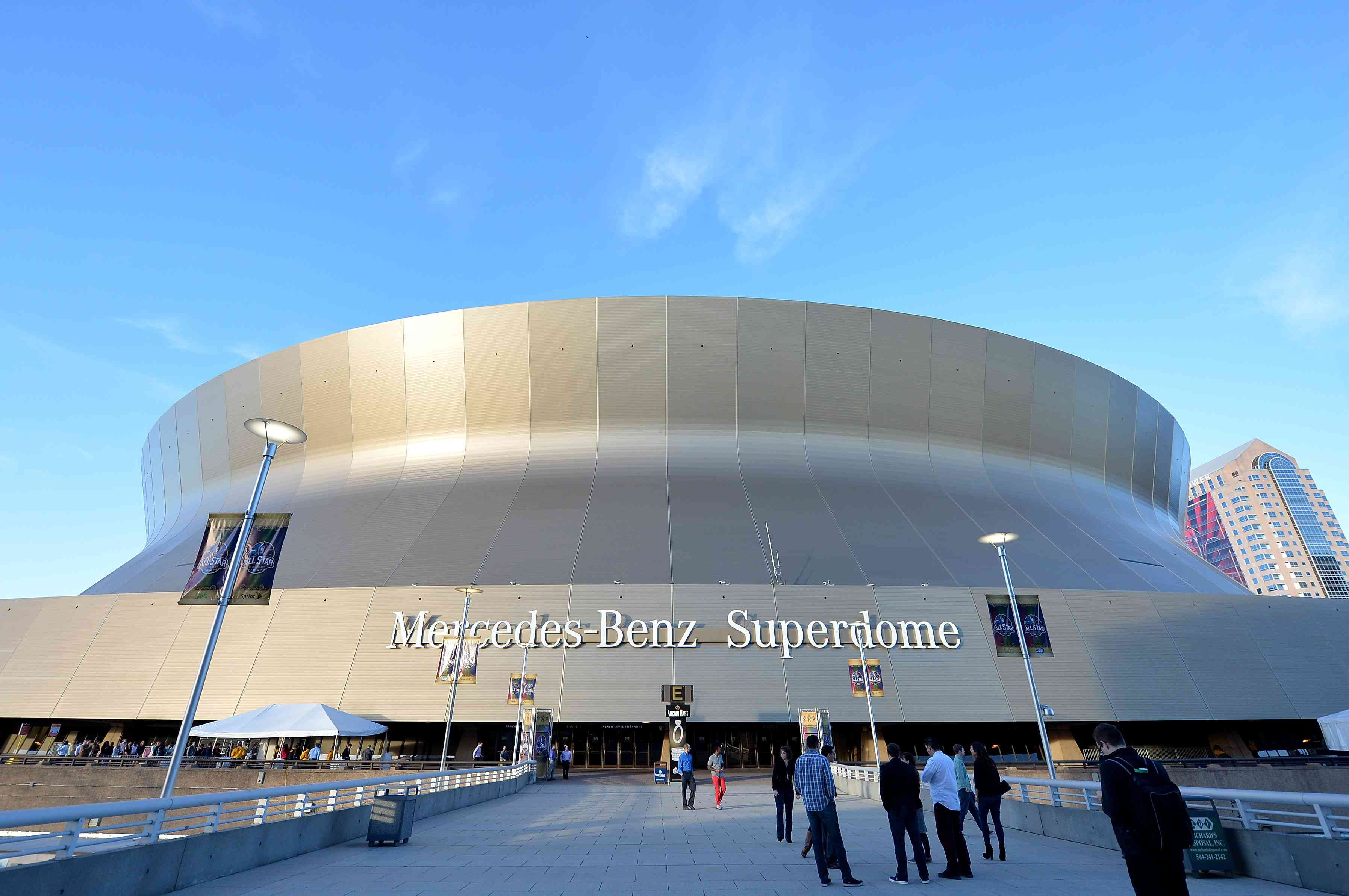 Mercedes-Benz Superdome in February 2014 in New Orleans, Louisiana