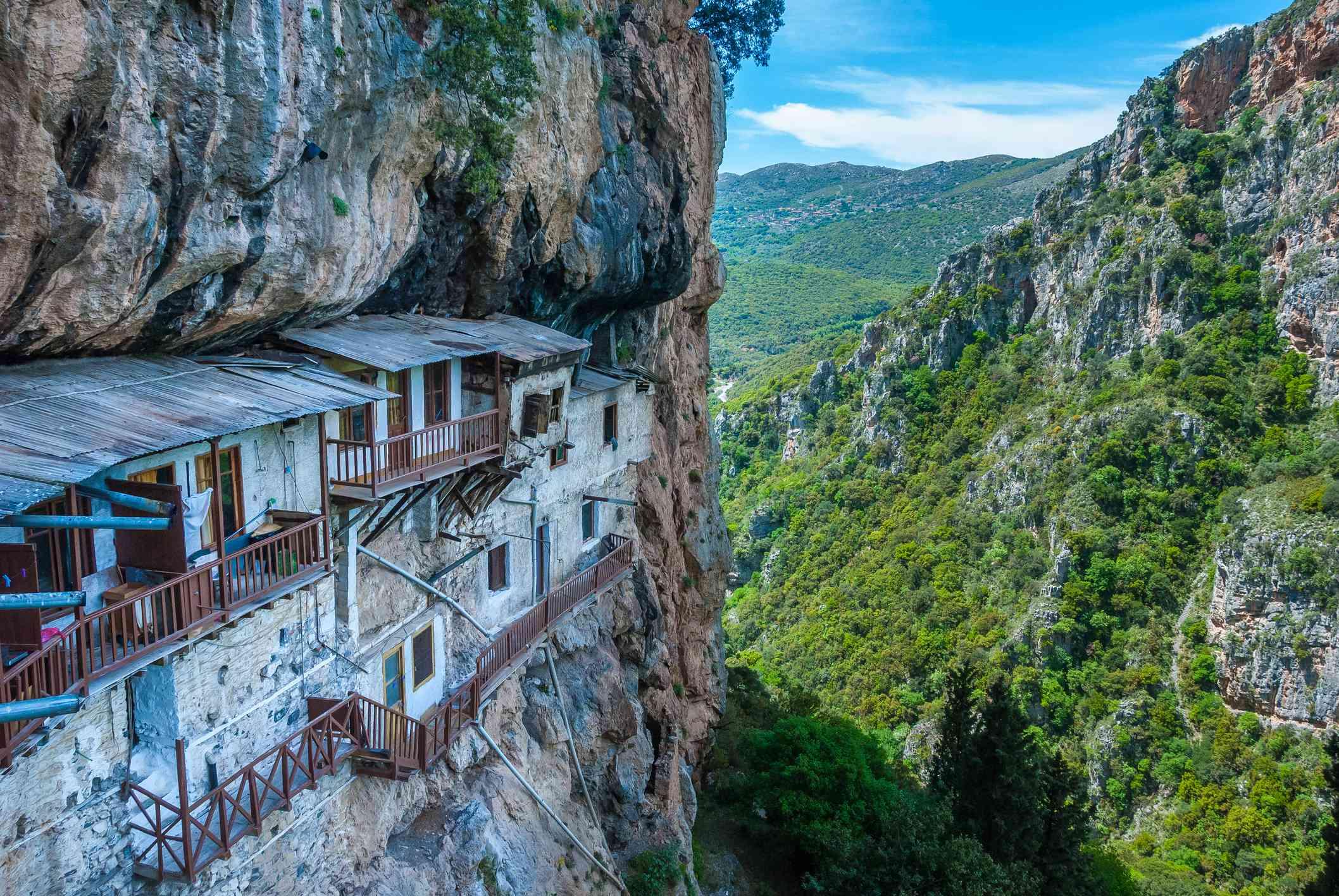 Prodromos monastery in Arcadia prefecture in Peloponnese, Greece