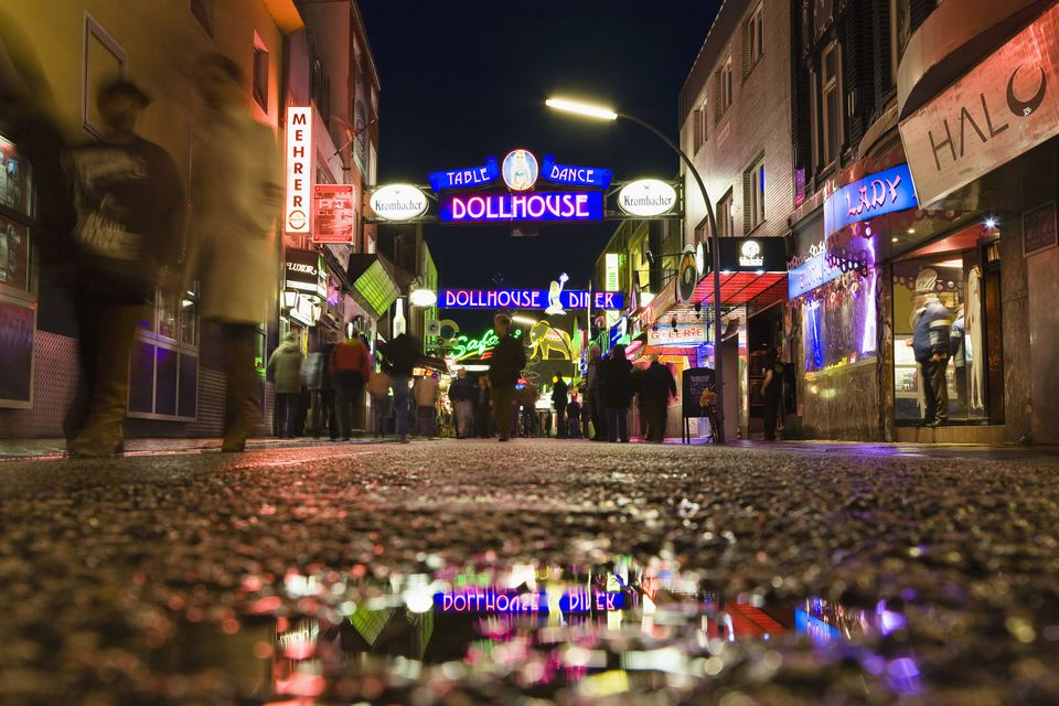 Reeperbahn in Hamburg, Germany