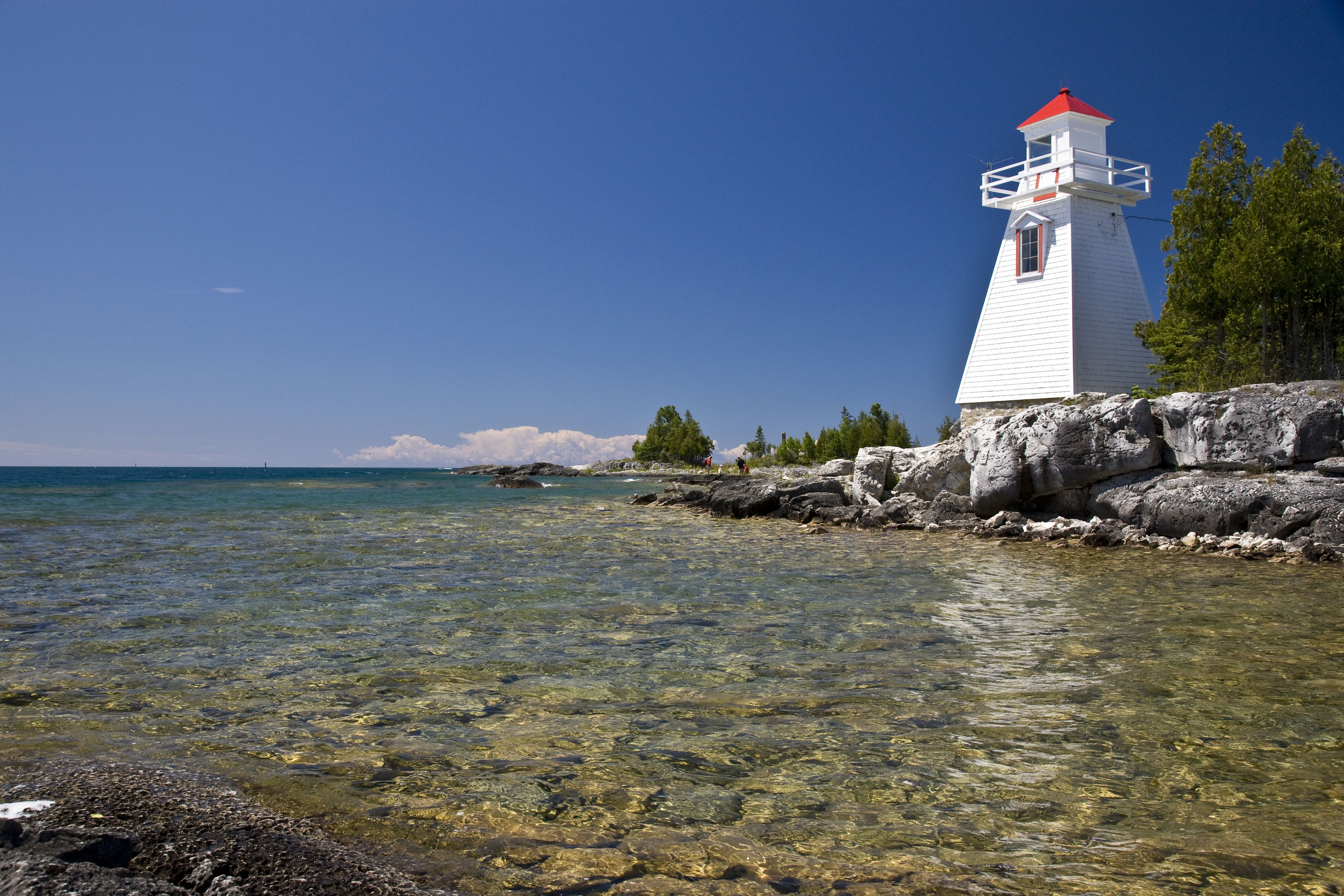 Lighthouse at South Baymouth, Manitoulin Island, Ontario, Canada.