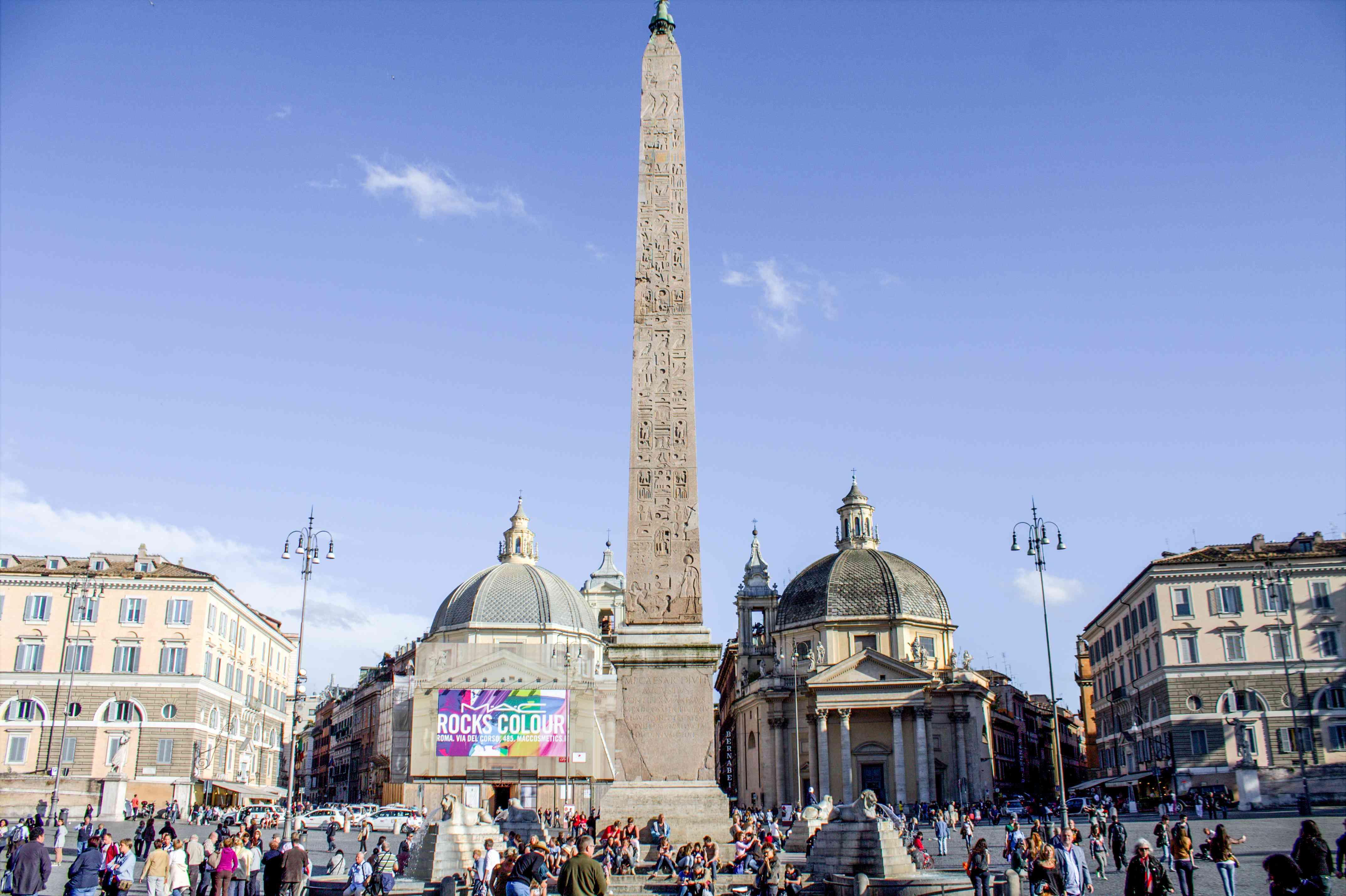 Plano general de la Piazza del Popolo
