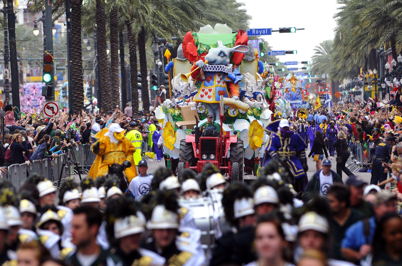 Mardi Gras parade in News Orleans, Louisiana