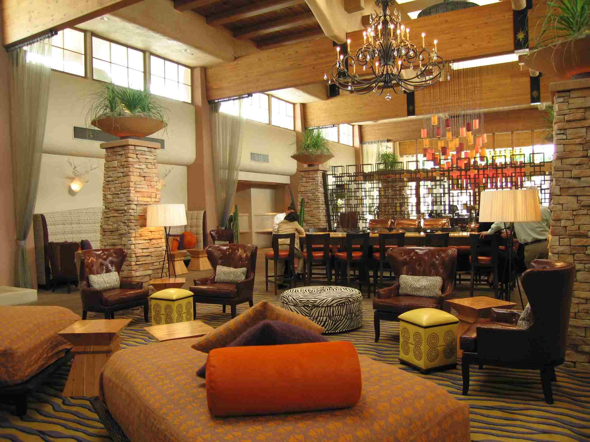 Interior of Taggia Restaurant inside FireSky Resort & Spa, Scottsdale, AZ.  High-