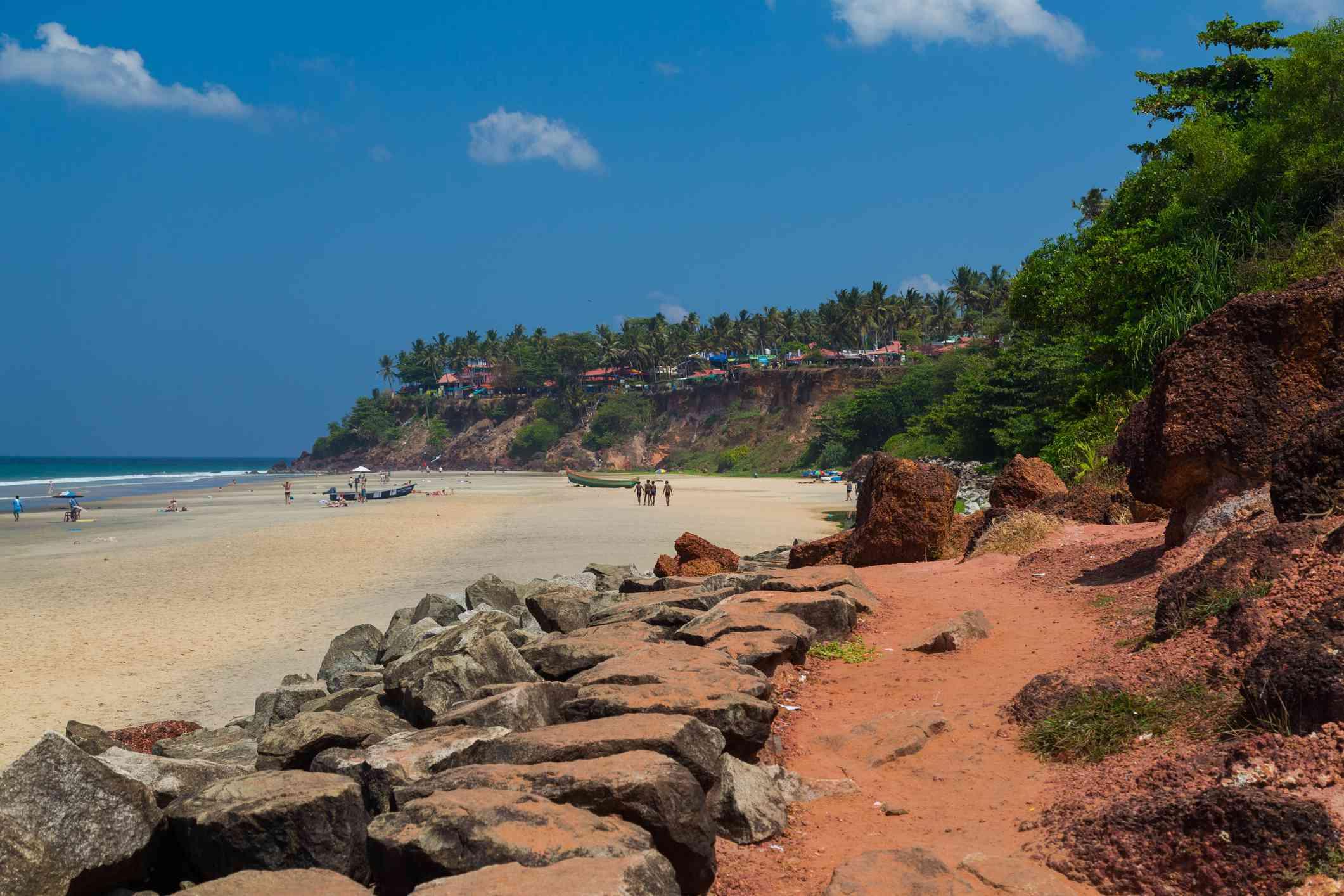 Playa Varkala, Kerala.
