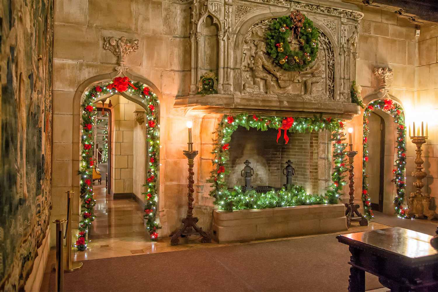 Holiday Decorations at Hearst Cas