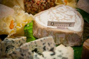 Cheeses at Fromagerie Quatrehomme in Paris are all hand-selected and aged/refined onsite.