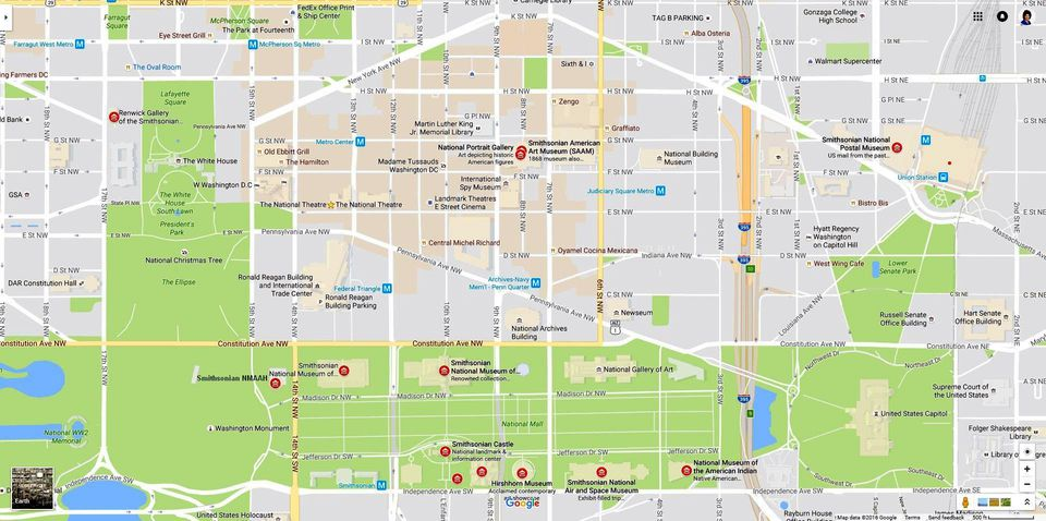 Smithsonian Museums Map
