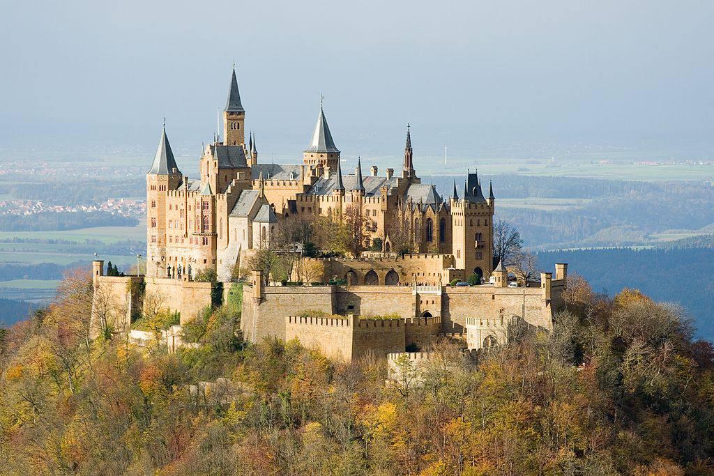 Hohenzollern Castle located on top of Mount Hohenzollern near Stuttgart
