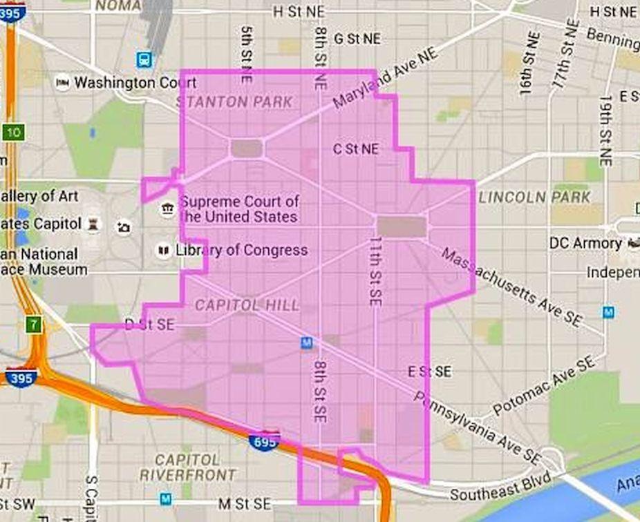 Capitol Hill Closeup Map