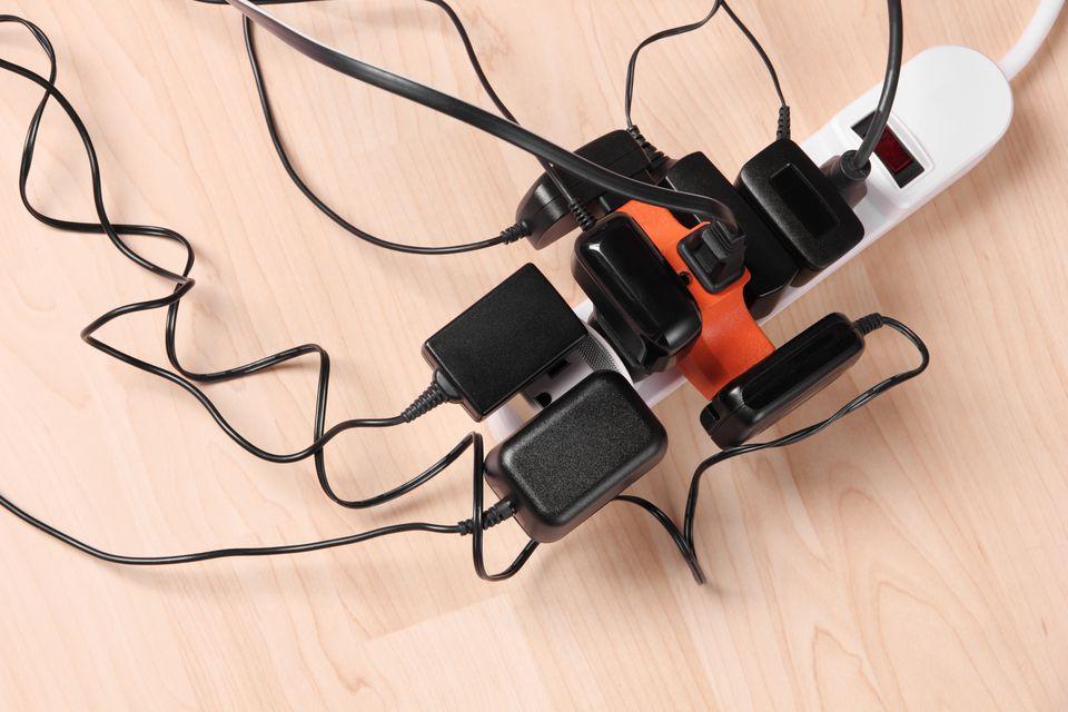 Overloaded power strip