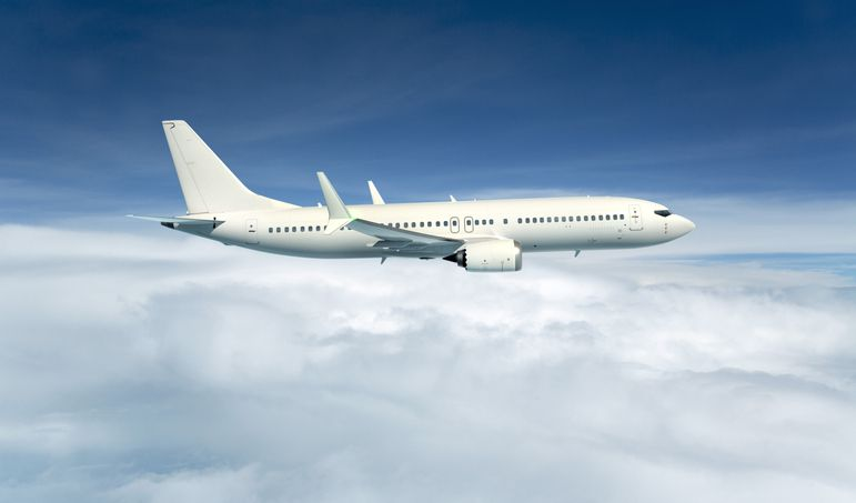 3D illustration of a commercial Aircraft
