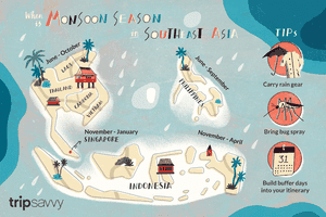 Moonsoon season in southeast Asia