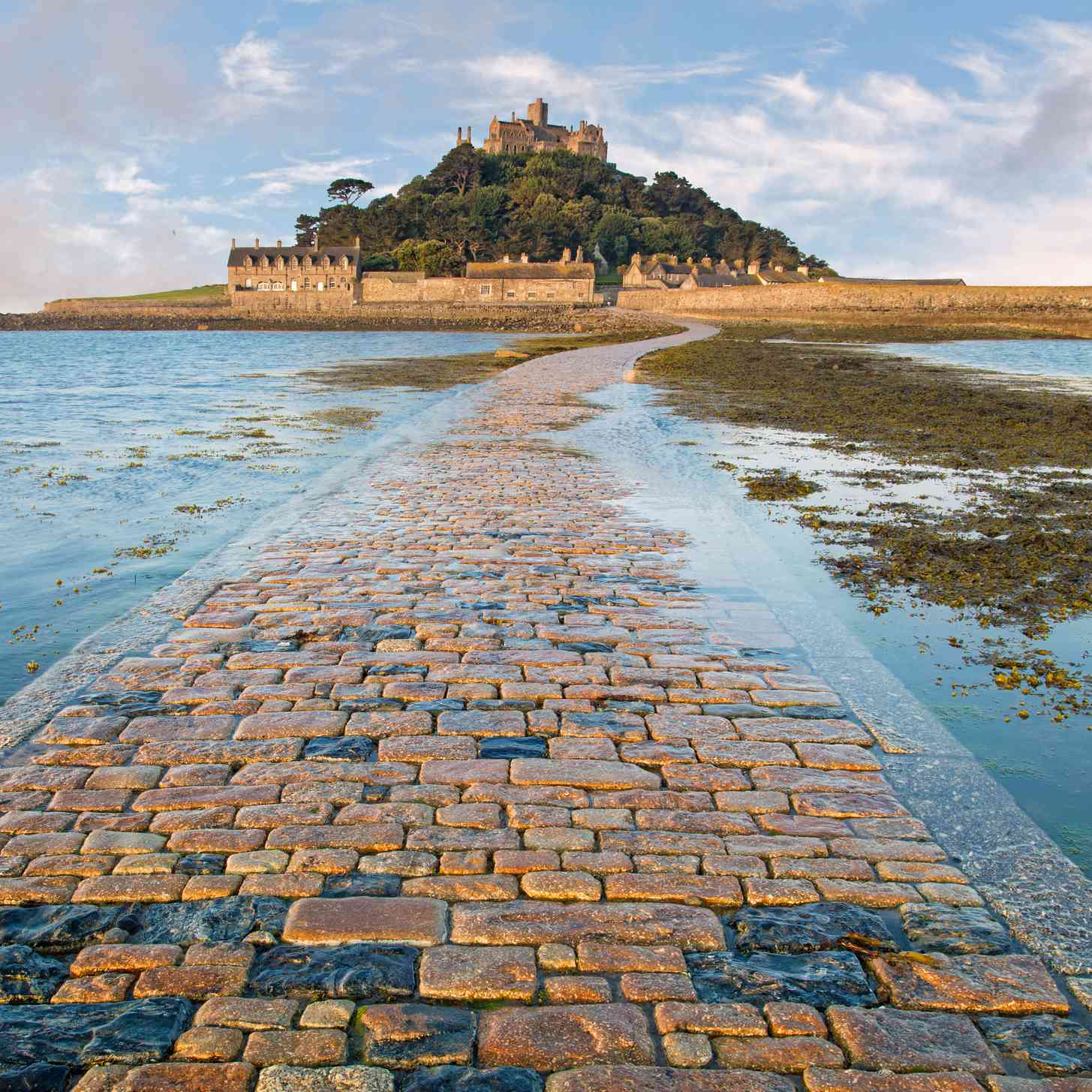 Causeway to castle on an island