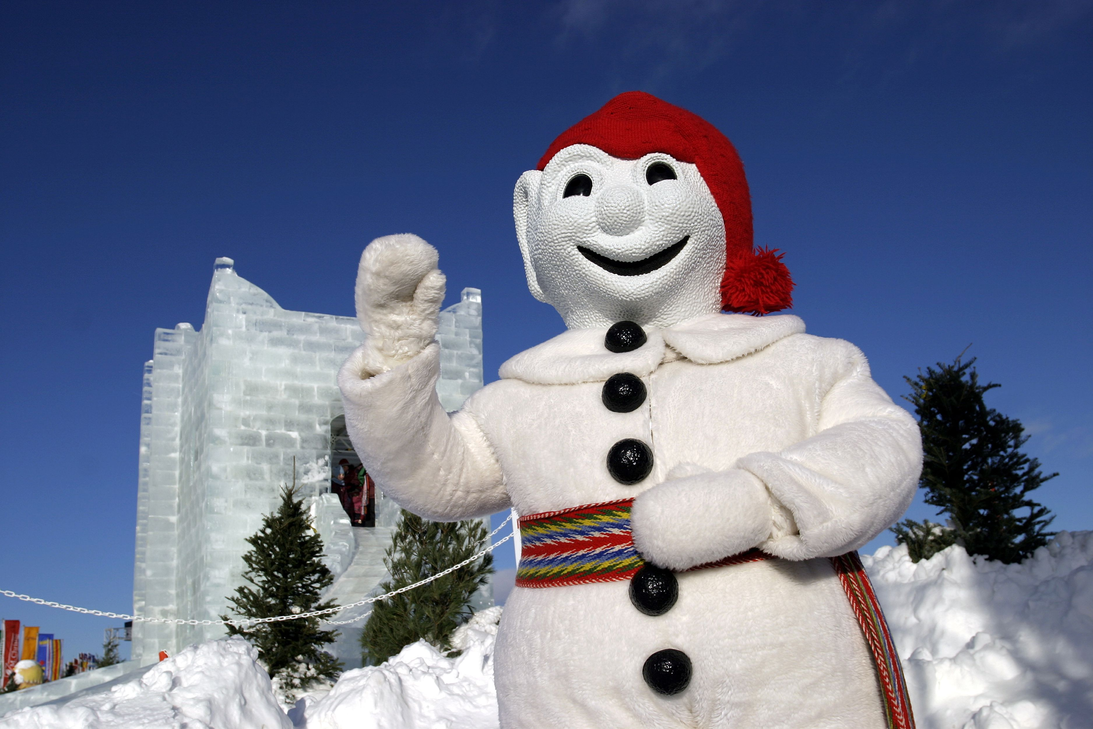 Canada, Quebec Province, Quebec city Winter carnival, Bonhomme, the mascot of the carnival