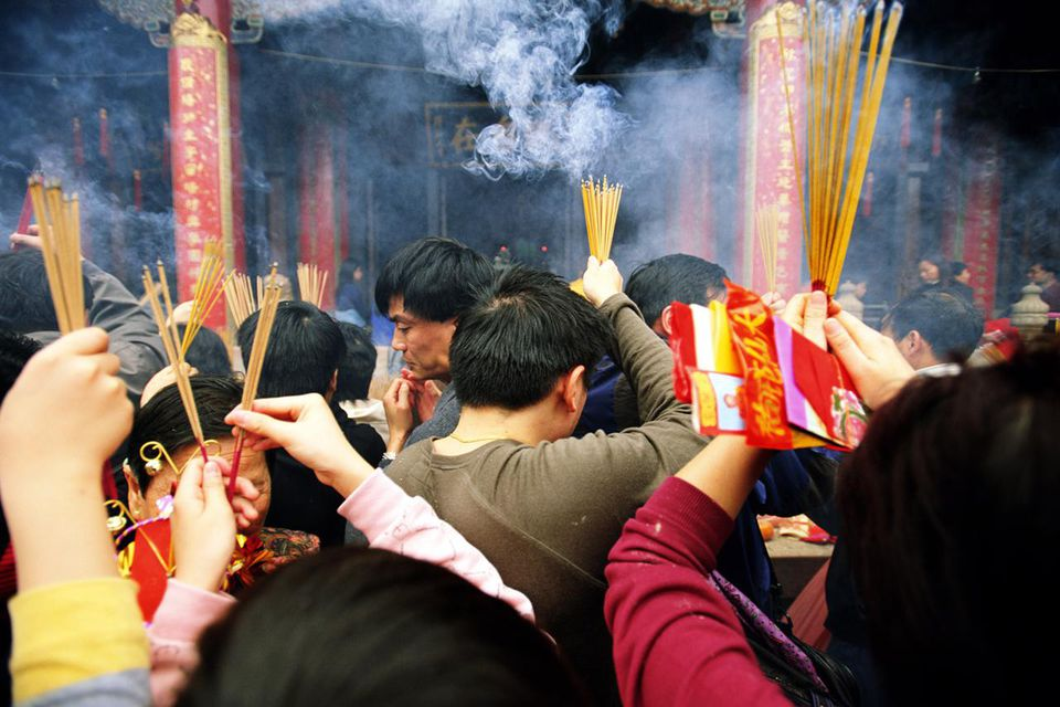 China, Hong Kong, Kowloon, Wong Tai Sin Temple, Chinese New Year