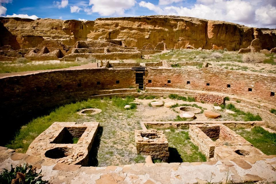 Kiva at the Chaco Culture National Park