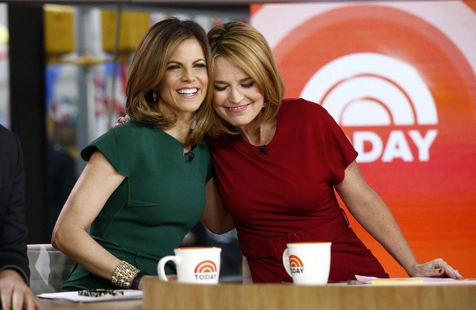 "Natalie Morales and Savannah Guthrie appear on NBC News' ""Today"" show"