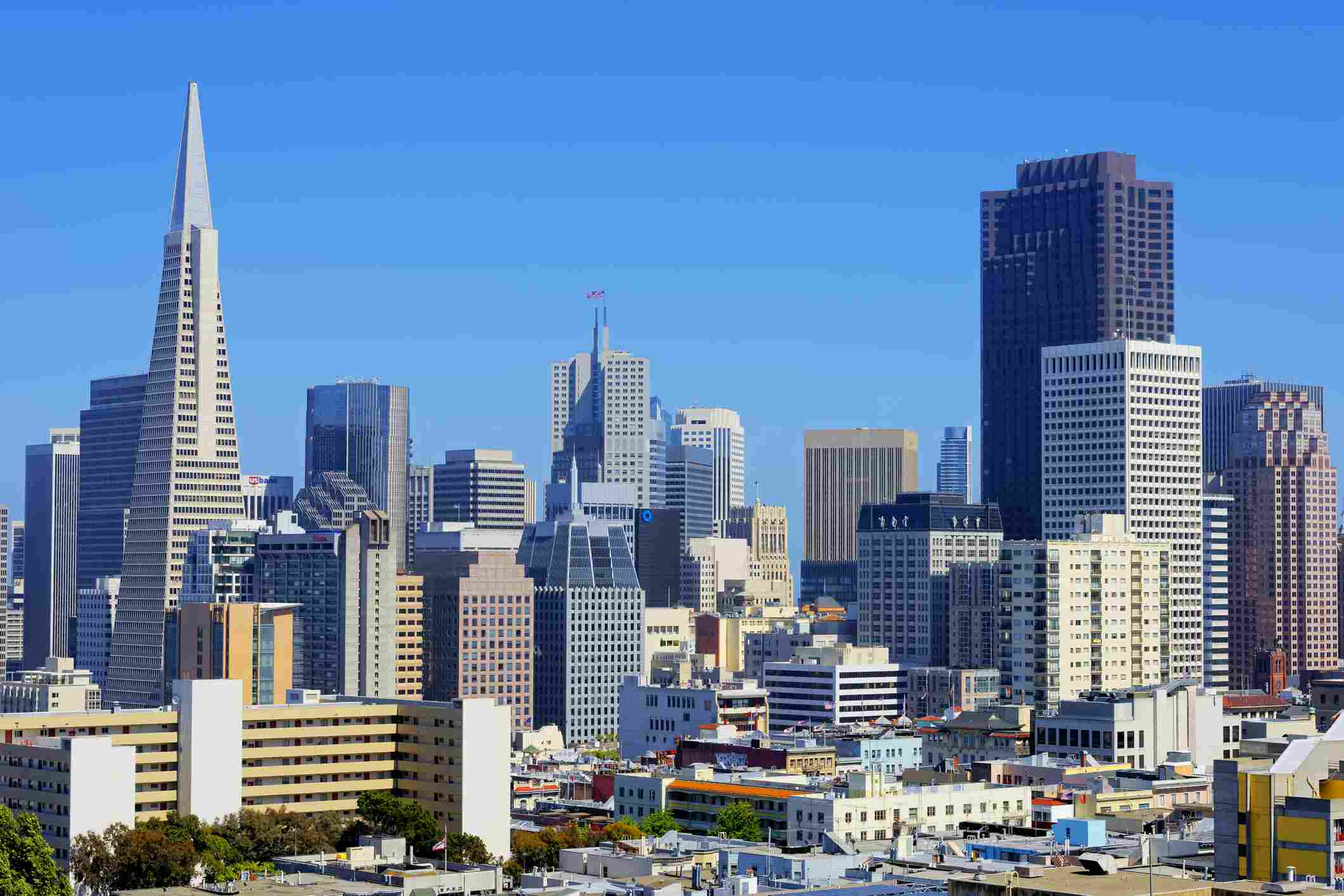 Horizonte de San Francisco en un claro Día