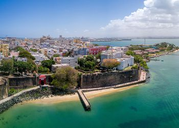 Old Town San Juan, Puerto Rico aerial