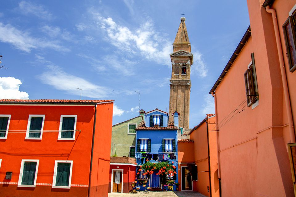 Colorful houses in Burano, Italy