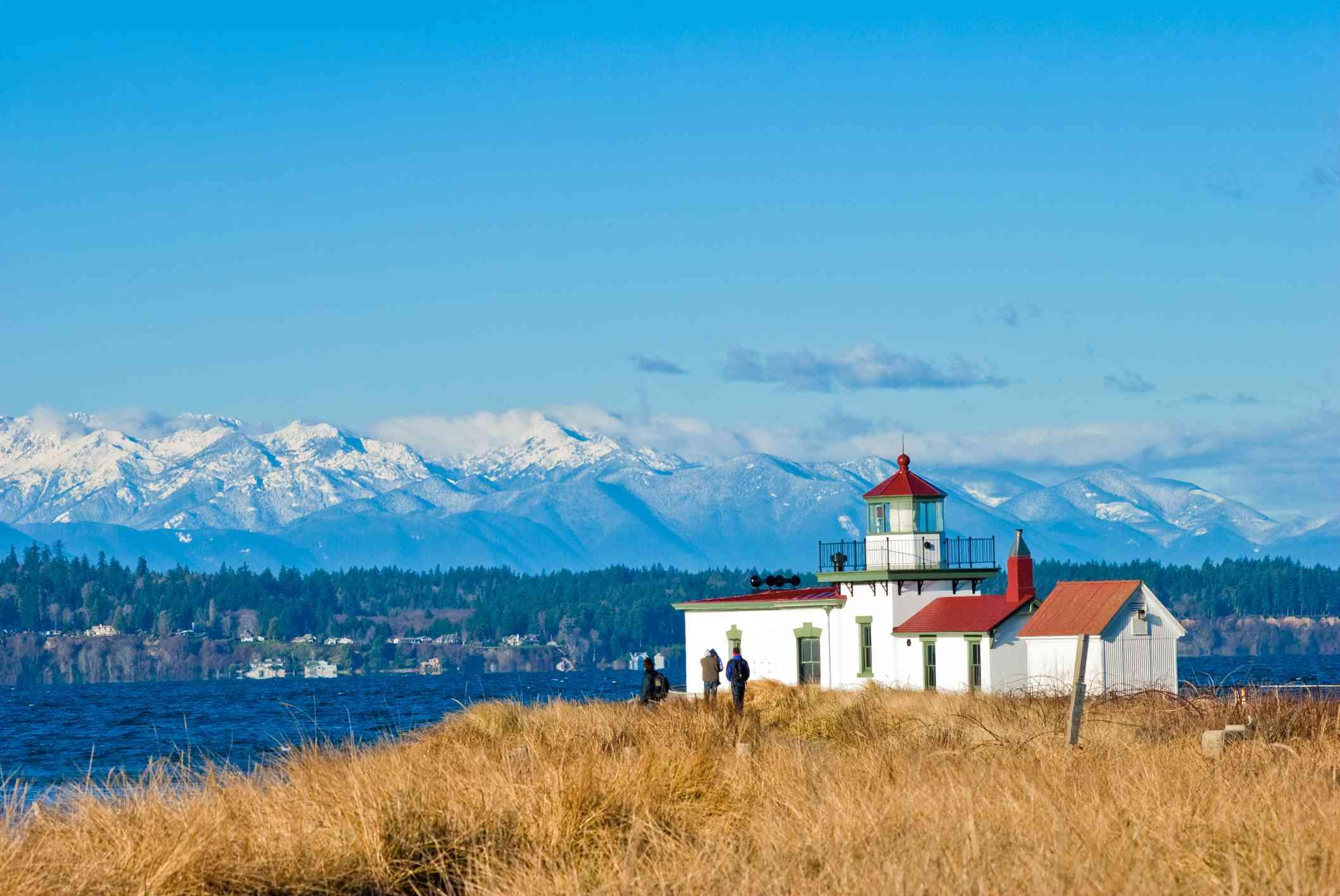 West Point Lighthouse en Discovery Park en Seattle, WA