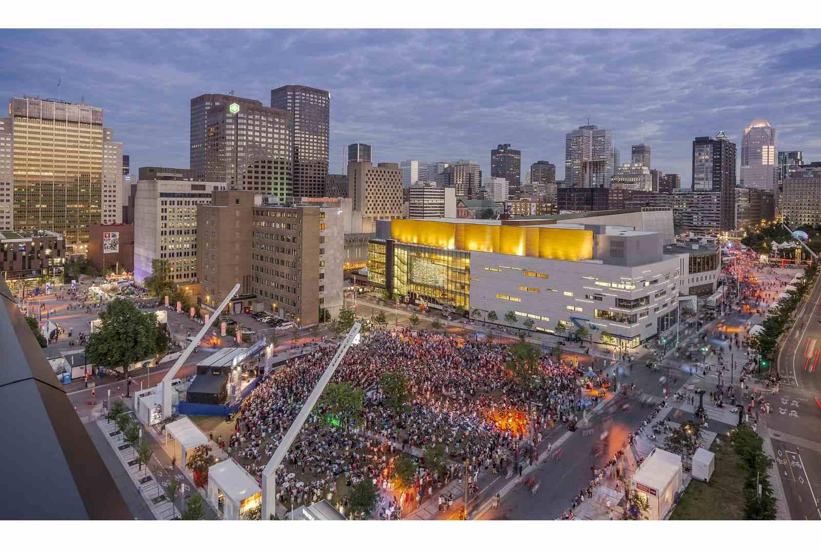 Quartier des Spectacles' le Parterre in Montreal's entertainment district