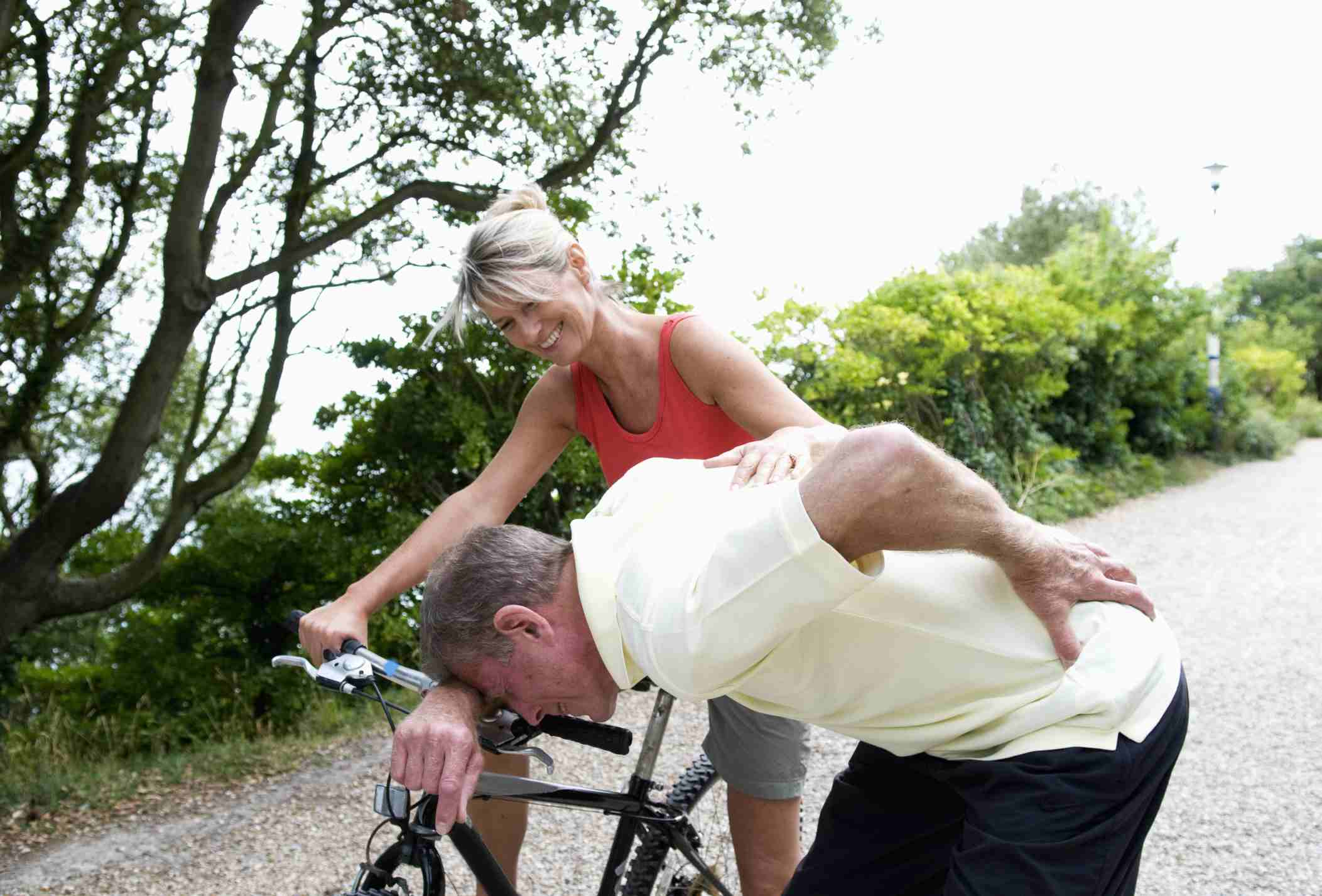 Back pain while cycling