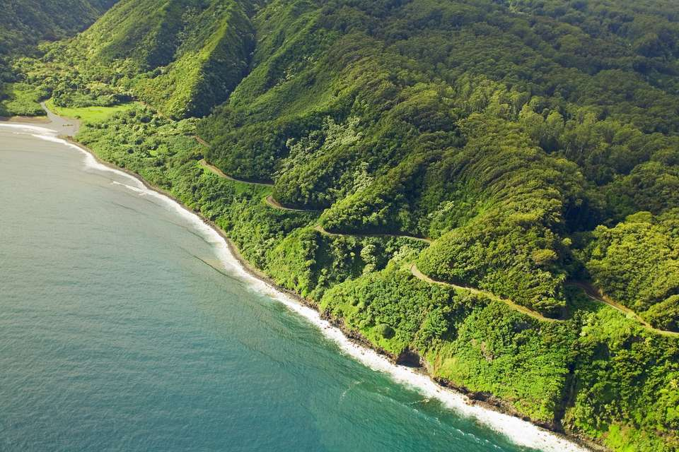 Aerial View Of The Road To Hana